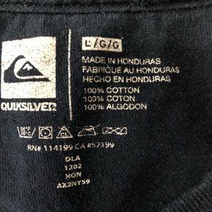 Quiksilver Shirts - Quiksilver Men's Blue T-Shirt L